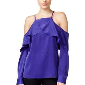 Bar lll  blouse Long sleeve with cold shoulder
